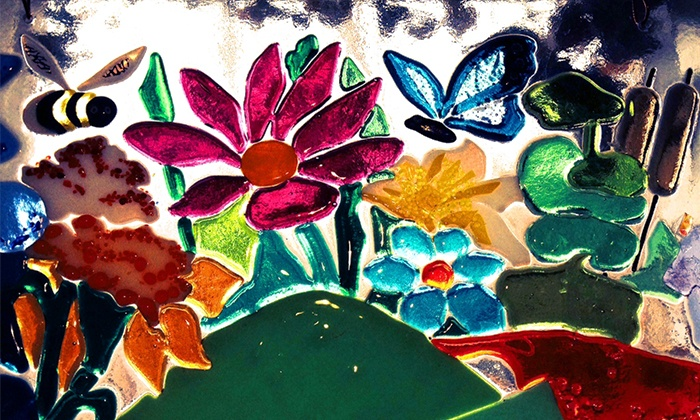 Christal Cerrone GLASS DESIGNS - Durham: Two-Hour Glass-Fusing Class for One, Two, or Four at Glass Class in Durham (Up to 50% Off)