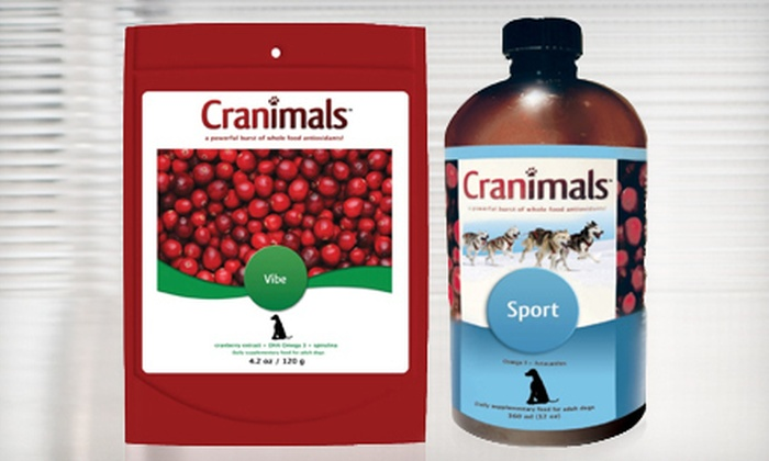 Cranimals - Southwest Corvallis: $30 for Vibe and Sport Dog-Food Supplements from Cranimals ($65.97 Value)