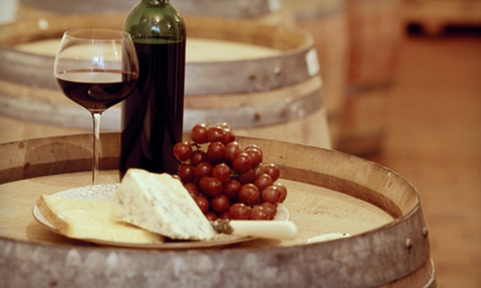 Orange Coast Winery - Newport Beach: Tasting for Two, Glasses, and Gourmet Cheese with Option for a Take-Home Bottle at Orange Coast Winery (Up to 61% Off)