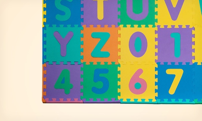 Foam Alphabet And Number Puzzle Floor Mat For Kids 96 Piece