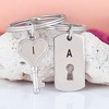 90% Off Engravable Key-and-Lock Keychain