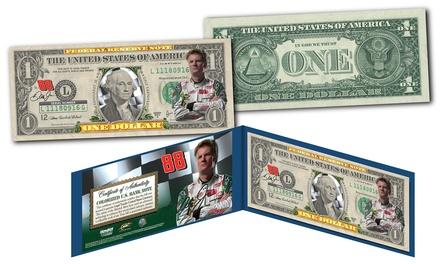 Dale Earnhardt Jr. #88 Colorized $1 Bill