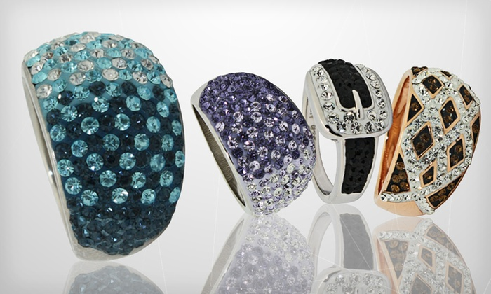Crystal Rings: Crystal Ring (Up to 84% Off). Multiple Styles and Sizes Available. Free Shipping and Free Returns.