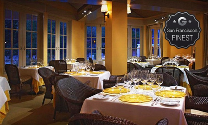 Santé Restaurant at The Fairmont Sonoma Mission Inn & Spa - Willow Stream Spa at the Fairmont Sonoma Mission Inn & Spa: Three-Course Meal for Two at the Michelin-Starred Santé Restaurant at The Fairmont Sonoma Mission Inn & Spa (Half Off)