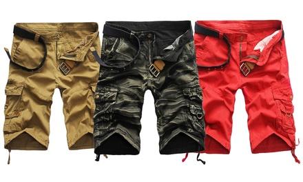 1x oder 2x Cargo Shorts aus 100% Baumwolle für Herren in der Farbe nach Wahl