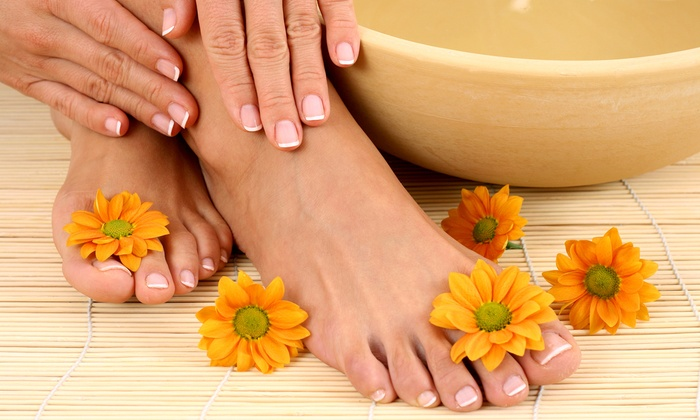 Mandy's Nail Spa - Glen Head: One or Three Basic Mani-Pedis or One Gel Manicure at Mandy's Nail Spa (Up to 56% Off)