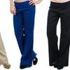 Lyss Loo Women's Fold-Over Linen Pants