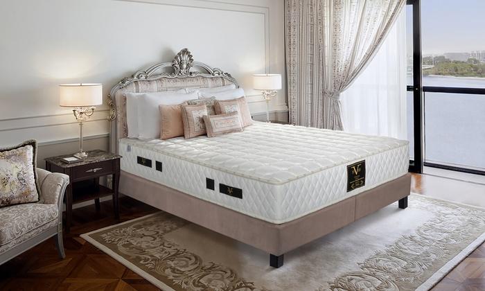 Matelas Versace modèle Perla à ressort ensachés, accueil mémoire de forme 26 cm
