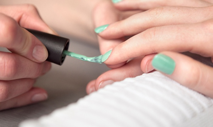 VV Nail Spa - Manhattan: Hot Stone Pedicure with Traditional or Shellac Manicure at VV Nail Spa (Up to 37% Off)