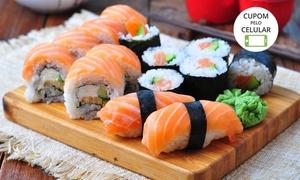 Sushi Oba Restaurante – São José dos Campos: Sushi Oba Restaurante – Jardim Satélite: rodízio japonês para 1 ou 2 pessoas + petit gâteau