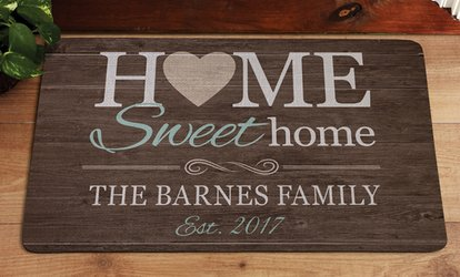 image for One, Two, or Three Personalized Doormats from <strong>Personal</strong> Creations (Up to 60% Off)