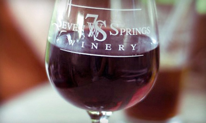 Seven Springs Winery - Linn Creek: Wine Tasting for Two or Four with Appetizer and Commemorative Wineglasses at Seven Springs Winery (Up to 52% Off)