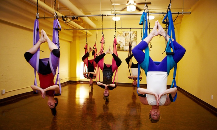 The Flying Yogi - Toronto: 10 or 1 Month Unlimited Drop-In InfraredYoga Classesor Suspension Yoga Workshop at The Flying Yogi (Up to 84% Off)