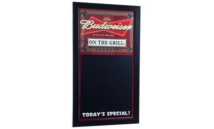 Budweiser Barbecue Menu Chalkboard