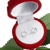 Stud Earrings with Swarovski Crystal Elements and Rose Jewelry Box
