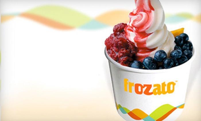 Frozato - Greensboro: Five 12-Ounce Cups of Frozen Yogurt, or $5 for $10 Worth of Frozen Yogurt at Frozato