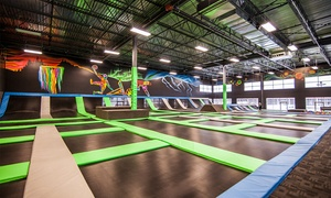 Flying Squirrel: Two Hours of Trampoline Jumping, or a One-Hour Private Court Rental at Flying Squirrel (Up to 38% Off)