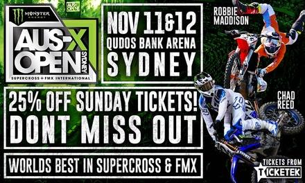 Monster Energy AUSX Open at Qudos Bank Arena: Tickets , 11 & 12 November
