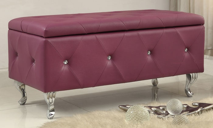 Up To 30 Off On Crystal Entryway Storage Bench Groupon
