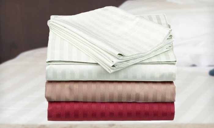 Four-Piece Egyptian-Cotton Sheet Set: $49 for a Seasons Collection Four-Piece Egyptian-Cotton Sheet Set ($119 List Price). 11 Options Available. Free Returns.