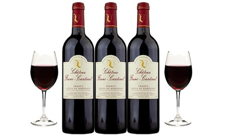 Three Bottles of 2011 Chateau Franc-Cardinal with Shipping Included from Splash Wines (63% Off)