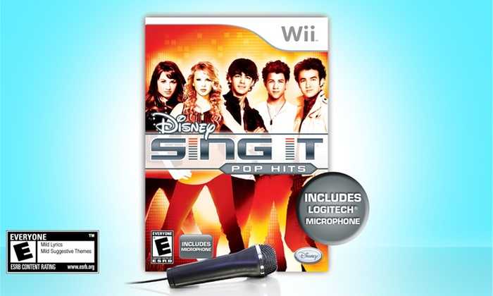 Disney Sing It: Pop Hits for Wii with Microphone : Disney Sing It: Pop Hits for Wii with Microphone. Free Shipping and Returns.