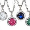 Sterling Silver Micropave 4-CTTW Cubic Zirconia Halo Pendant
