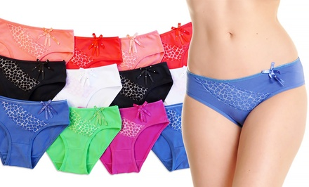 Women's Bikini Panties in Assorted Colors (12-Pack)