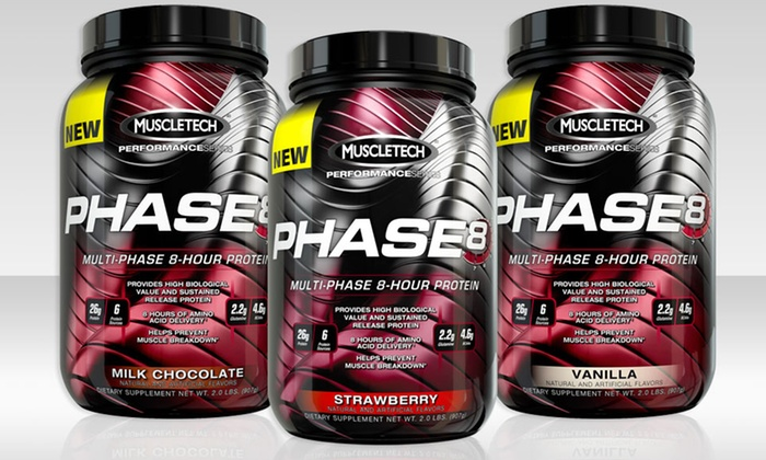 MuscleTech Phase8 Protein Powder with Test HD: 2 Lb. of MuscleTech Phase8 Protein Powder with 90-Count Test HD Testosterone Booster. Multiple Flavors Available.