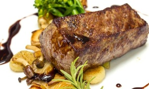 Garten Eden: 3-Gänge-Steak-Menü mit 220 g Rumpsteak vom Grill für 2 oder 4 Personen im Garten Eden (55% sparen*)