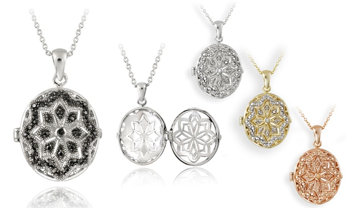 Diamond-Accented Lockets: $18.99 for Diamond-Accented Locket Necklace ($89.99 List Price). Four Styles Available. Free Shipping and Free Returns.
