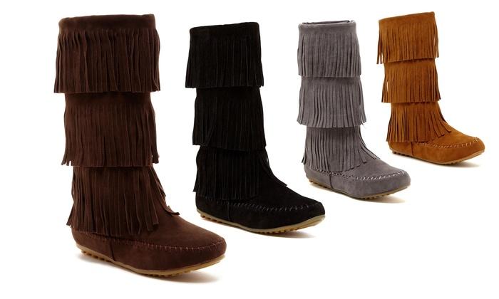 Shoes of Soul Kids' Fringe Boot: Shoes of Soul Kids' Fringe Boots