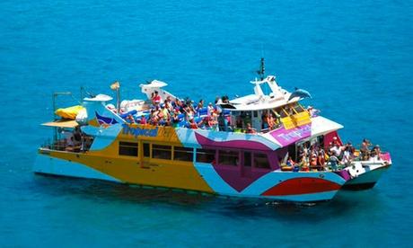 Pase para niño o adulto a excursión de 2 horas en catamarán con salida desde Santa Ponsa desde 4,50€