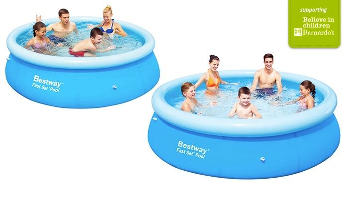 bestway fast set paddling pool groupon goods. Black Bedroom Furniture Sets. Home Design Ideas