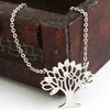 Cubic Zirconia Tree of Life Necklace in Sterling Silver