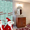 15-Piece Holiday Bath Set with Mats, Shower Curtain, and Rings