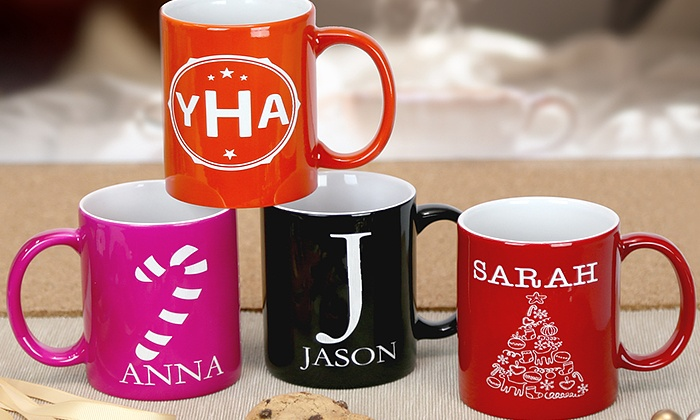 Monogram Online: $5 for a Personalized Coffee Mug from Monogram Online ($19.99 Value)
