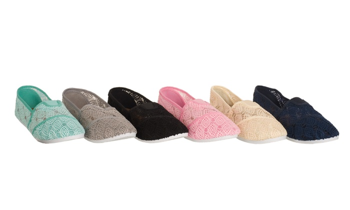 Relent Women's Lace Slip-On Flats: Relent Women's Lace Slip-On Flats. Multiple Options Available. Free Returns.