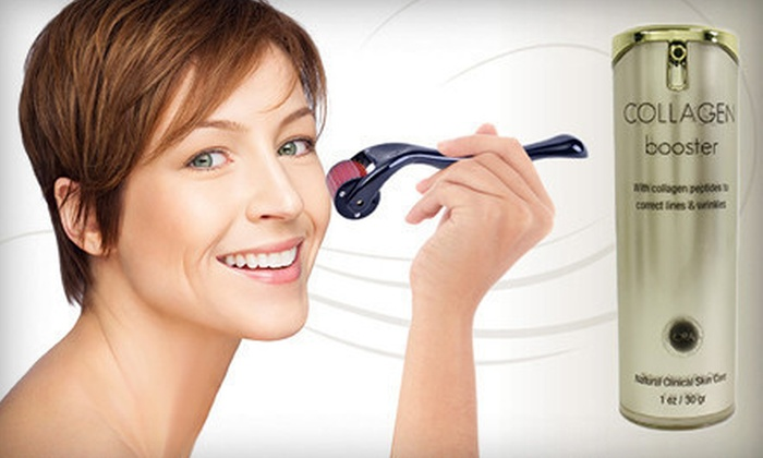 Derma Roller and Collagen Boosting Cream: $29 for a Microneedle Curved Derma Roller System and 1 Oz. of Ora Collagen Booster Cream ($146 Total Value)