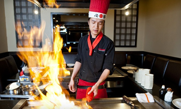 Yokohama Japanese Restaurant - Maple Shade: Hibachi Dinner for Two, Four, or Six at Yokohama Japanese Restaurant (Up to 57% Off)