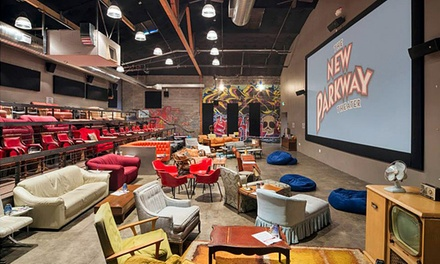 Movie for Two with Popcorn and Beer or Wine at The New Parkway Theater (Up to 50% Off). Two Options Available.