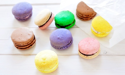 One Dozen Assorted Macarons or Cake Pops at Sugartiers (Up to 58% Off)