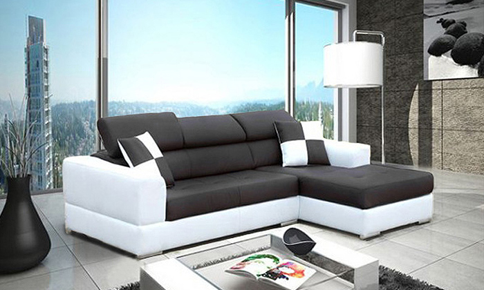 canap d 39 angle barcelona groupon shopping. Black Bedroom Furniture Sets. Home Design Ideas