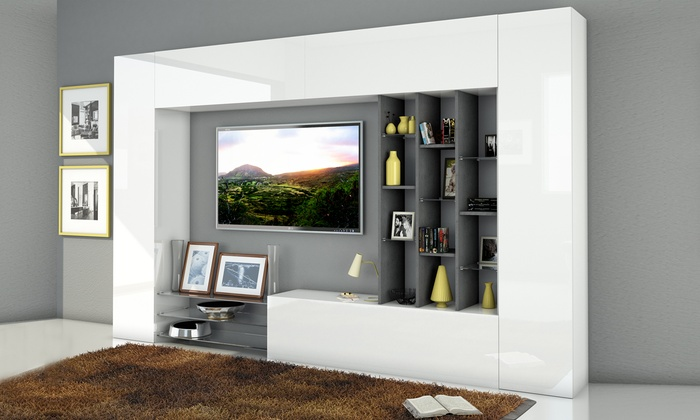 Mobili da parete per soggiorno groupon goods for Piccoli mobili per soggiorno