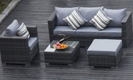 Five seater garden furniture set groupon for Garden furniture set deals