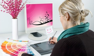 Pink Zebra: Logo or Website Graphic-Design Package from Pink Zebra (Up to 94% Off). Four Options Available.
