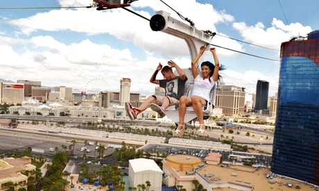 Rio Zipline VIP Ride Package for One, Two, or Four, or Professional Photo at Rio Las Vegas (Up to 75% Off)