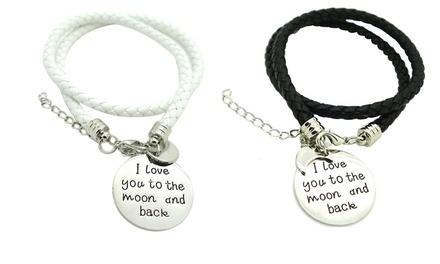 Pulseira 'Follow Your Dreams' ou 'I Love You To The Moon' por 9,99€