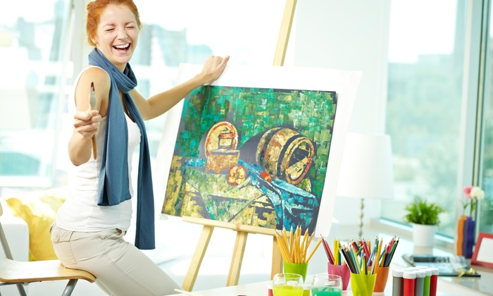 Color to Canvas - Philadelphia: Three-Hour Painting Lesson at Color to Canvas (54% Off)