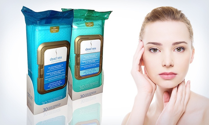 Dead Sea Elements Facial Wipes: Dead Sea Elements Facial Wipes for Dry or Oily Skin; 2 30-Towelette Packs